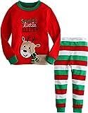 Vaenait baby Kids Unisex Christmas X-Mas Sleepwear Pajama Set Little Rudolph XL