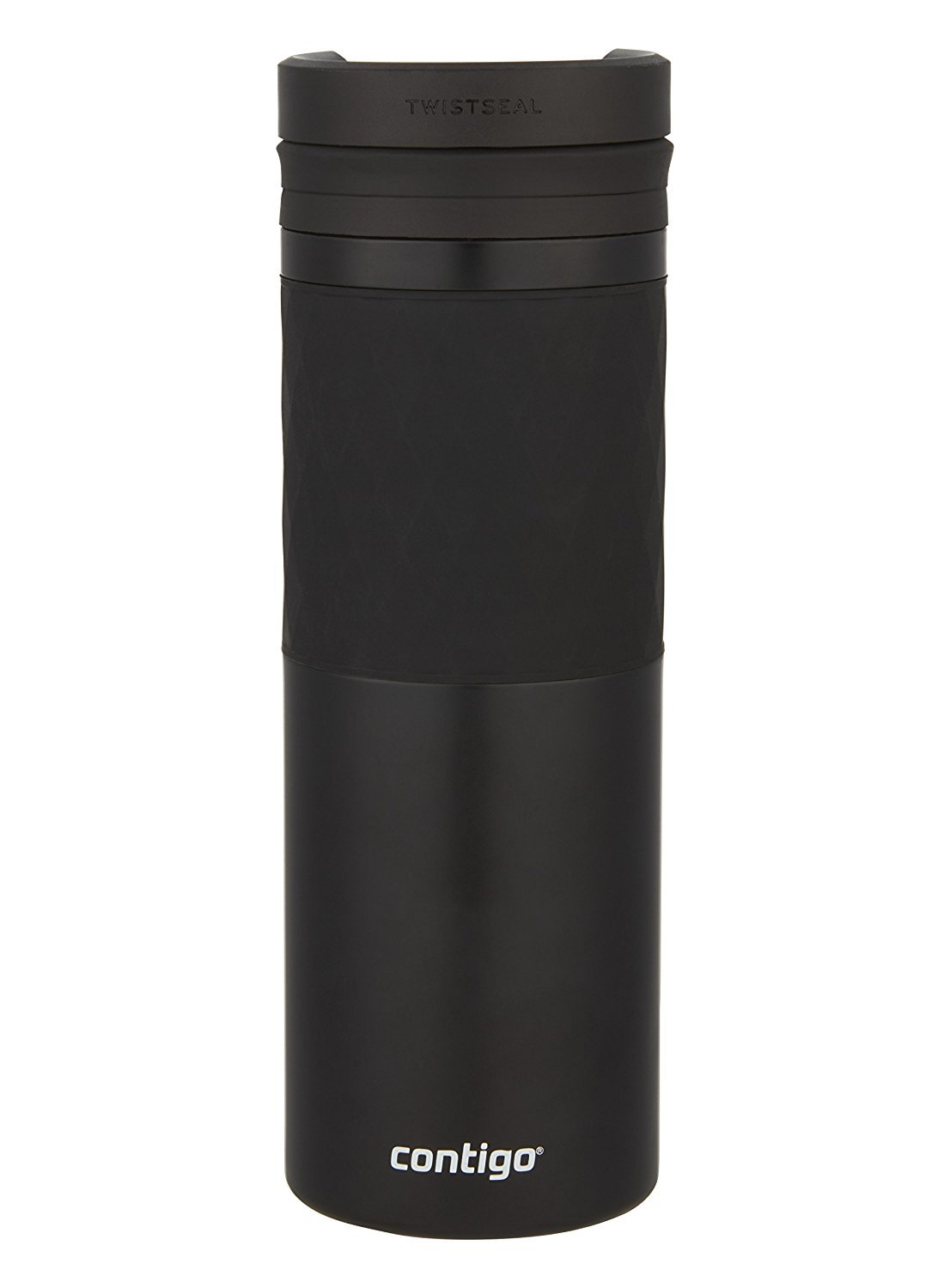 Contigo TWISTSEAL Glaze Vacuum-Insulated Stainless Steel Travel Mug with Ceramic Coating, 16 oz., Matte Black