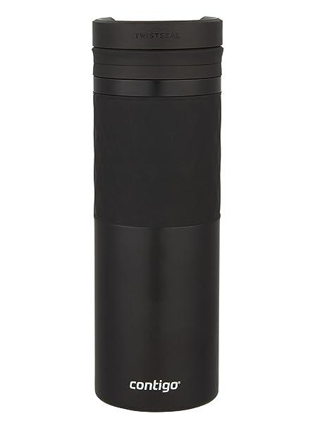 Contigo TWISTSEAL Glaze Vacuum-Insulated Stainless Steel Travel Mug with Ceramic Coating, 16 oz., Matte Black