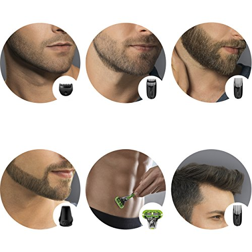 braun mgk3040 men 39 s beard trimmer for hair head trimming grooming kit with 4 combs gillette. Black Bedroom Furniture Sets. Home Design Ideas