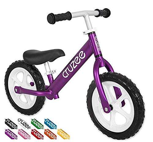 Cruzee Ultralite Balance Bike (4.4 lbs) for Ages 1.5 to 5 Years | Purple - Best Sport Push Bicycle for 2, 3, 4 Year Old Boys & Girls– Toddlers & Kids Skip Tricycles on The Lightest First Bike