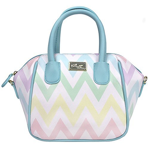 Lined Quilted Satchel - Luv Betsey Women's Quinn Mini Size PVC Satchel Multi One Size