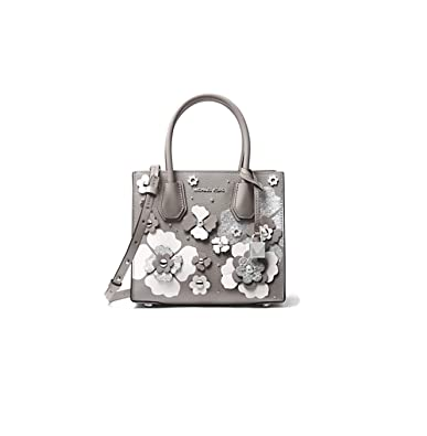 e47cbbb2a17c MICHAEL Michael Kors Crossbody Bag Mercer Floral Embellished Leather  Crossbody Bag - Pearl Grey: Handbags: Amazon.com
