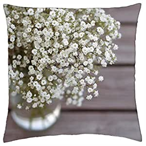 nature soft cute flowers - Throw Pillow Cover Case (18