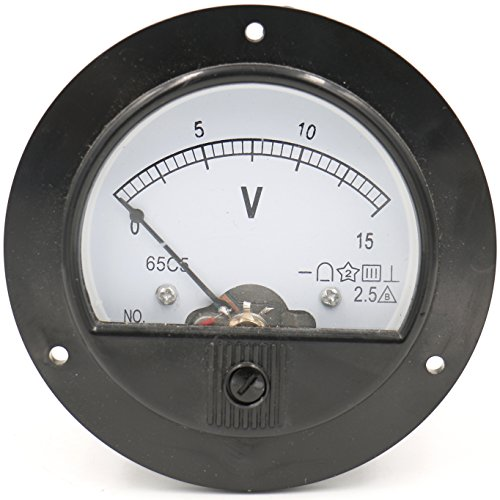 Baomain 65C5 Analogue Panel Meter Volt Voltage Gauge Analog Voltmeter DC 0-15 V