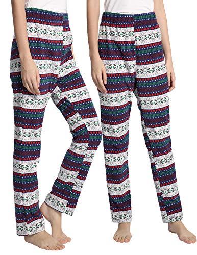 Pajama Trousers (AMONIDA Plus Size Stretch Flannel Lounge Pajama Trousers for Women 2X-Large)