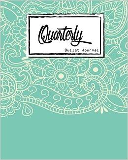 Bullet Journal: Dot Grid, Light Blue Mandala Cover Notebook, 8