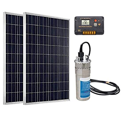 ECO-WORTHY Shallow Well Solar Water Pump Powerful Solar Pumps for Water Deep Well Solar Water Pump Soalr Power Water Pump System for Livestock Watering, Irrigation