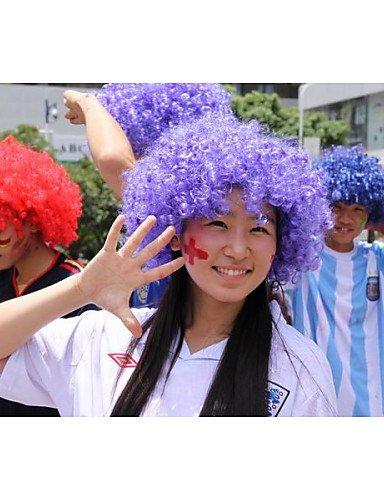 Pelucas europeos Moda pelo multicolor payaso erizo Bella peluca de Halloween peluca del Partito peluca de