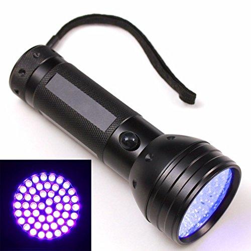 51 UV LED Scorpion Detector Hunter Finder Ultra Violet Blacklight Flashlight AA (Safe And Edible Glow)