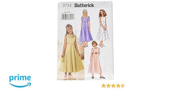 810147170 Amazon.com  BUTTERICK PATTERNS B3714 Girls  Dress