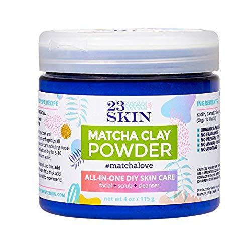 23 Skin Matcha Green Tea Powder Facial Mask with Kaolin Clay (4 oz.) Organic Anti-Aging Antioxidants | DIY Facial Scrub and Pore Cleanser | Absorb Oils and Impurities (Best Diy Facial Cleanser)