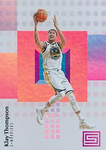 Klay Thompson basketball card (Golden State Warriors) 2018 Panini Status Refractor #52