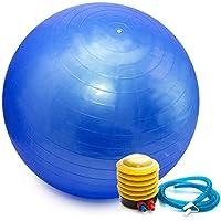 Bola Pilates Yoga Abdominal Ginastica Fitness 55 cm C/Bomba