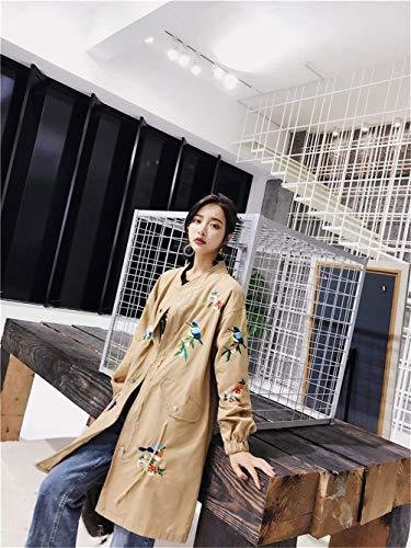 Costume Outdoor Autunno Huixin Baseball Ricamo Primaverile Fashion Outerwear Manica Giaccone Vintage Casuale Giacca Baggy Khaki Donna Cappotto Jacket Eleganti Lunga x0xgwO4a