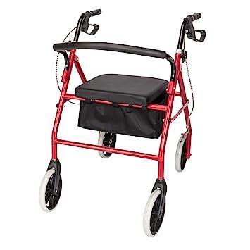 Amazon.com: Goujxcy Rolling Walker – Camino de 4 ruedas con ...