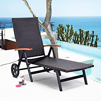 Amazon Com Giantex Pool Chaise Lounge Chair Recliner
