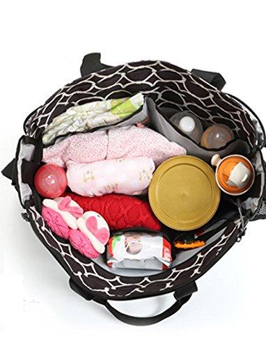 bigforest multifunción 3piezas en 1Set momia bolso bolsa de viaje bebé pañales Nappy bolso cambiador azul azul Talla:talla única café