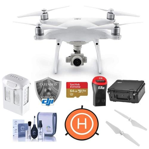 DJI-Phantom-4-Advanced-Quadcopter-Drone-with-Remote-Controller-Bundle-with-64GB-MicroSDHC-Card-Care-Refresh-Warranty-Go-Professional-Carrying-Case-Intelligent-Battery-Propellers-and-More