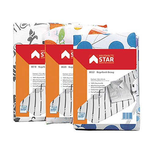 Tecstar Star 8018 Ironing Board Cover, Cotton, 115 x 38 cm