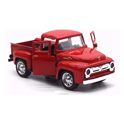 Ruipunuosi Red Truck Toy Christmas New Year Gift Decoration Products for Children Car Model Metal Vehicle with Movable Wheels Child Birthday Gift: Toys & Games