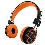 Kids Headphones Wireless Bluetooth Headphones for Kids Toddlers On Ear Headset with 3.5mm Wired Jack Cord SD Card Slot for PC Tablet Iphone Ipod Cellphone-Handal (Orange/Black)