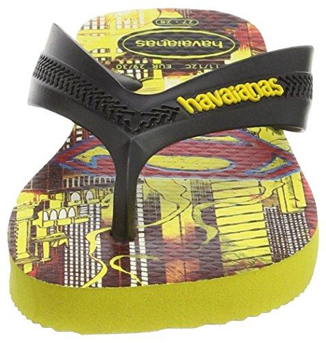 Havaianas Estampadas Chanclas Niño/Niña Max Herois Multicolor (Black/Citrus Yellow 3641)