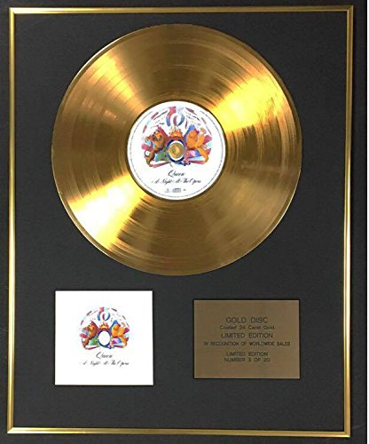 Queen - Exclusive Limited Edition 24 Carat Gold Disc - A Night At The Opera by CenturyMusic (Image #1)