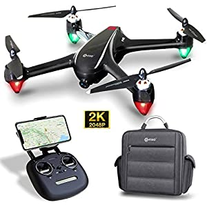 Contixo F18 2K FPV RC Drone with Camera for Adults – Quadcopter with Brushless Motor – Beginners GPS Drone for Kids-5G WiFi- Follow Me – Auto Return – Point of Interest – Modular Battery with Backpack