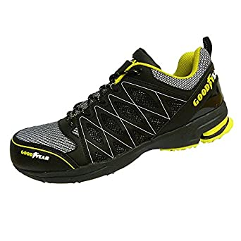 1784a042888 Goodyear GYSHU1502, Men's SRA Safety Shoes, Black (Black/Yellow), 7 UK (41  EU)