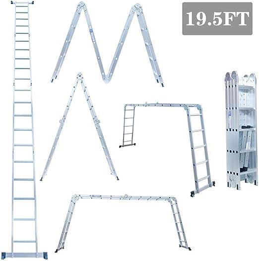 Ladders Escalera Plegable de Aluminio Gaint Ex-Large de 5.8M,4 ...