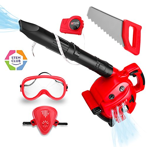 Kids Power Tool Toy Leaf Blower Play Set, Boys Pretend Play Toy Outdoor Lawn Tools Air Blower Set for Toddlers
