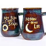 Game of Thrones My Sun and Stars and Moon of My Life Handmade Pottery Coffee Mug Set of 2