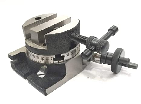 Used Milling Machines Power Tools Tools Home Amazon Com >> 3 80 Mm Rotary Milling Table With 80 Mm Round Vice Vise Fixing T