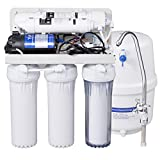 Costway Top Tier 5-Stage Ultra Safe Reverse Osmosis Drinking Water Filter System Purifier White