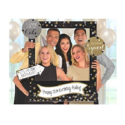 "Amscan 399645 Sparkling Celebration Customizable Giant Photo Frame childrens-party-supplies, 35"" x 30"", Multi: Toys & Games"