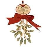 Enesco Heart of Christmas Gift Mistletoe Ornament, 4.53-Inch