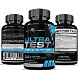 Ultra Test Testosterone Booster for Men – Boost Stamina, Endurance & Strength & Burn Fat – Fortifies Metabolism – Helps Healthy Weight Loss - 60 Caplets