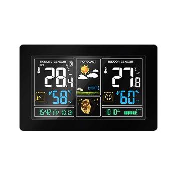 Weltzeituhr weiß TechnoLine Funk-Wetterstation LED-Display
