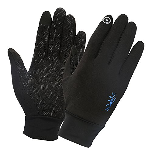 Winter Gloves,Touch Gloves Screen Touch Gloves Touch Screen Gloves Texting Glvoes Running Gloves Driving Gloves for Men and Women by FTEOX (Black-Small)