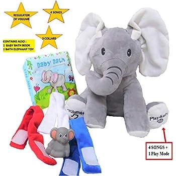 ab550c596f4 Amazon.com  Gund Baby Animated Flappy The Elephant Plush Toy  Toy ...
