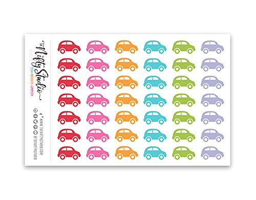Car Stickers   Planner Stickers   1 sheet of 42 stickers   T