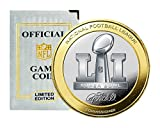NFL Patriots Vs Falcons Highland Mint super Bowl 51 Official Two-Tone Flip Coin, Silver