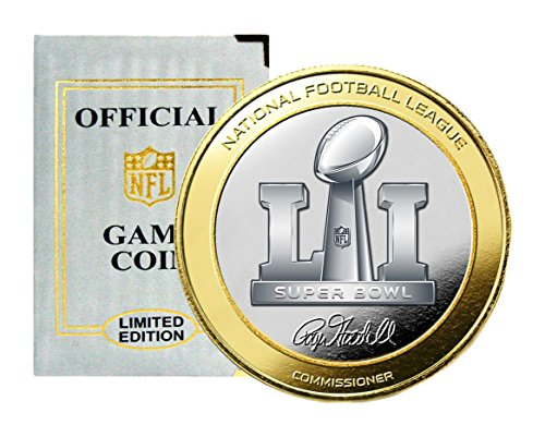 NFL Patriots Vs Falcons Highland Mint super Bowl 51 Official Two-Tone Flip Coin, Silver - Highland Mint Nfl Football