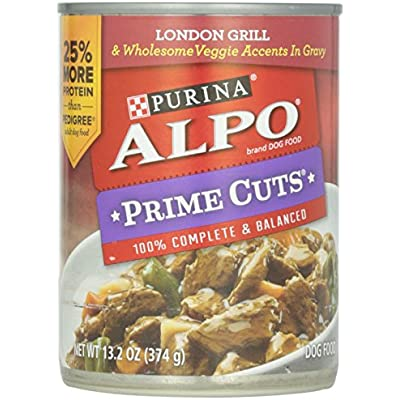 Alpo Prime Cuts in Gravy Canned Dog Food, London Grill, 13.2 oz