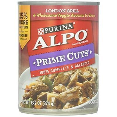 Alpo Prime Cuts in Gravy Canned Dog Food, London Grill, 13.2 oz