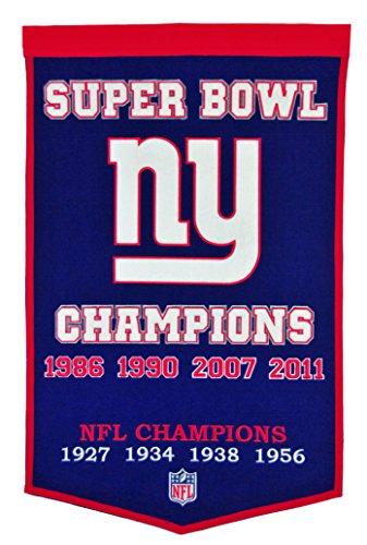 - Winning Streak NFL New York Giants Dynasty Banner