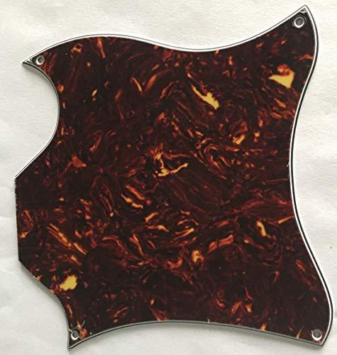 Custom Sg Pickguards - Custom Guitar Pickguard For US Gibson SG Standard Full Face Blank,3 Ply Black (4 Ply Brown Tortoise)