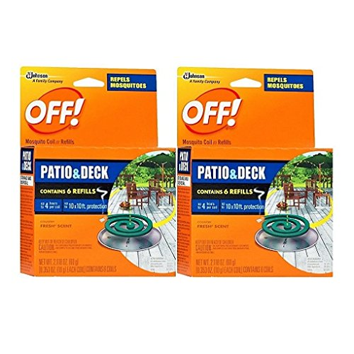 S C Johnson Off Country Fresh Scent Mosquito Coil Iii Refills  6 Refills  Pack Of 2
