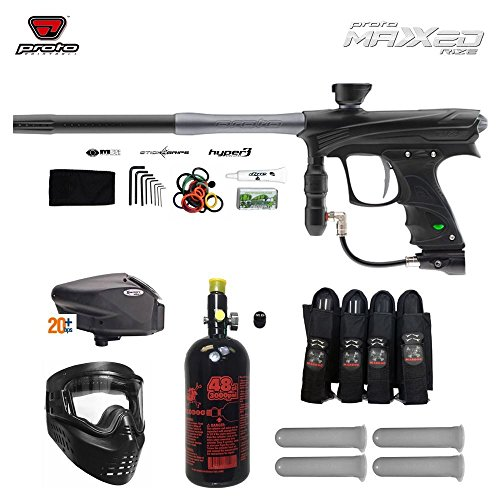 Proto Rize MaXXed Expert Paintball Gun Package - Black/Grey